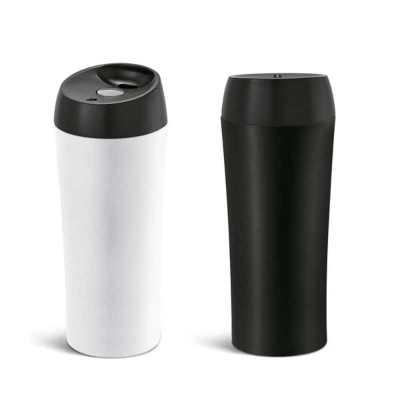 direct-brindes-personalizados - Copo para viagem Aço inox e PP com parede dupla