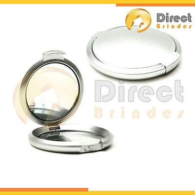 Direct Brindes Personalizados - Espelho redondo duplo de bolso promocional.