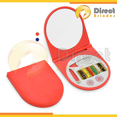 direct-brindes-personalizados - Kit costura com espelho disponível em duas cores.