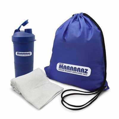Kit Fitness 3 peças com Coqueteleira Personalizado - Direct Brindes Personalizados