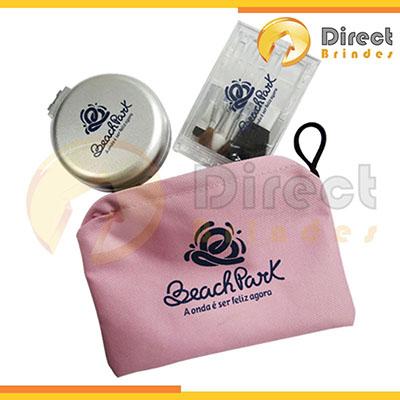 direct-brindes-personalizados - Kit com nécessaire em poliéster 600.