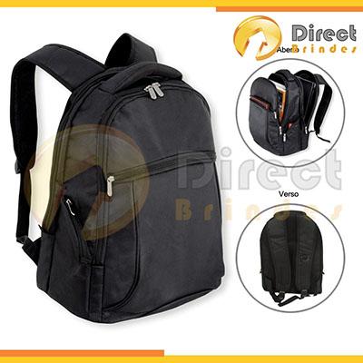 direct-brindes-personalizados - Mochila Porta Notebook com diversos compartimentos. Possui alça de mão, bolsos frontais, laterais, divisórias internas