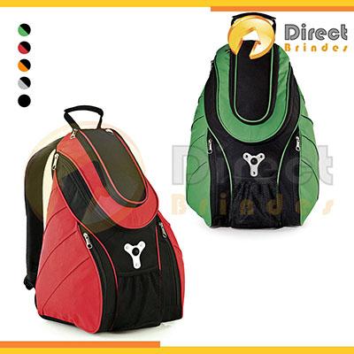 Direct Brindes Personalizados - Mochila com porta notebook, alças ajustáveis, três bolsos externos com zíper, alça de mão e um bolso frontal inferior em tela elástica. Capacidade 20l