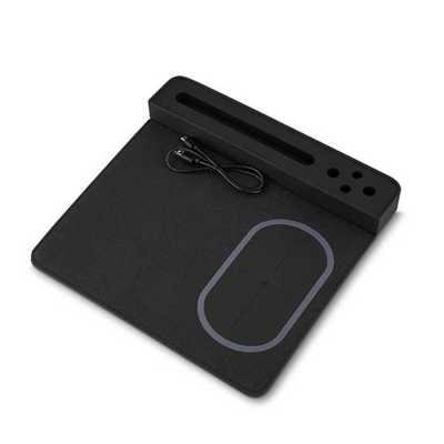 Mouse Pad com Carregador por Indução, Porta lápis e Suporte Celular Personalizado - Direct Brindes Personalizados