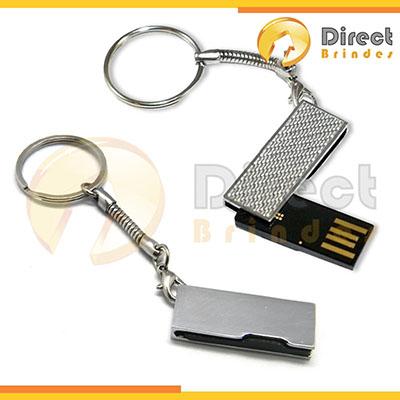 direct-brindes-personalizados - Pen drive chaveiro em metal. Várias capacidades 2, 4 e 8GB. Gravação laser