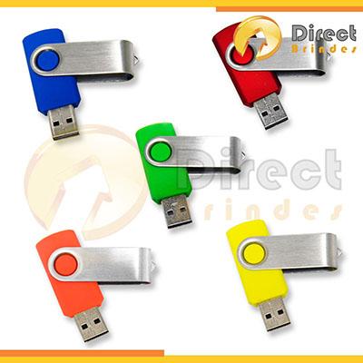 direct-brindes-personalizados - Pen drive em metal, detalhes coloridos