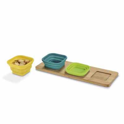 Kit Gourmet Petisqueira com 3 Potes Personalizado