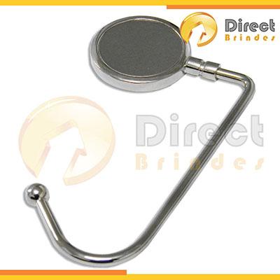 direct-brindes-personalizados - Porta bolsa de metal, formato redondo