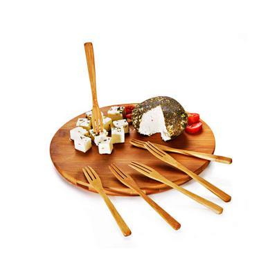 Direct Brindes Personalizados - Conjunto Gourmet para Queijo e Petiscos em Bambú 1