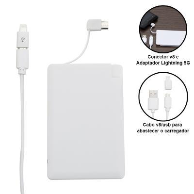 Carregador Power Bank bateria Cartão 1200MAH 1