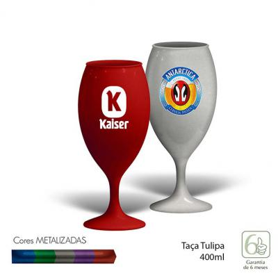 Direct Brindes Personalizados - Taça Tulipa Metalizada 400ML 1