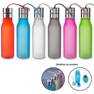 Direct Brindes Personalizados - Squeeze/Garrafa de Plástico 600 ml com Filtro e Alça de Silicone 1