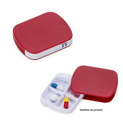 Porta Comprimidos Plástico com Quatro Divisórias 1 - Direct Brindes Personalizados