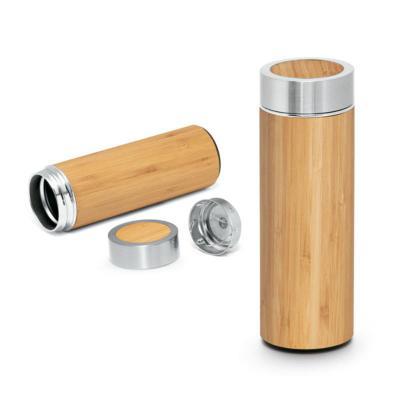 direct-brindes-personalizados - Garrafa térmica. Bambu e aço inox 430 ml. 1