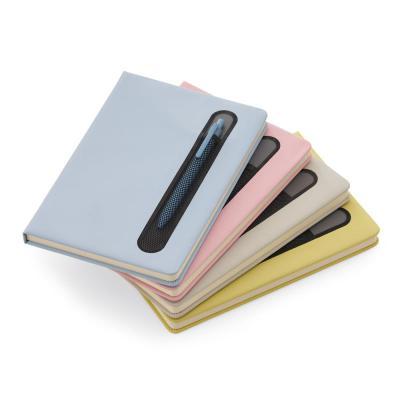 Direct Brindes Personalizados - Caderno de anotações com suporte para caneta 1