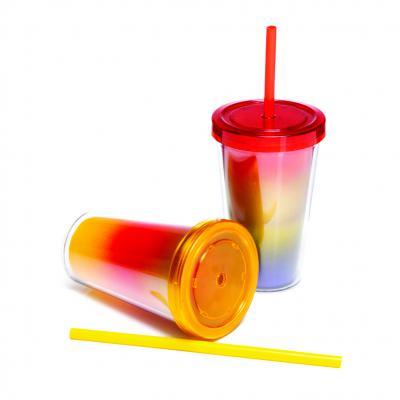 direct-brindes-personalizados - Copo Parede Dupla com Tampa Reta - Jateado até 3 Cores 1