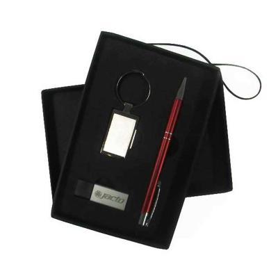 Direct Brindes Personalizados - Conjunto Caneta/Chaveiro/Pen Drive Prata 1