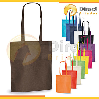 direct-brindes-personalizados - Sacola em material Non-woven, tecido ecológico 100% reutilizável, fabricado em parte com materiais reciclados