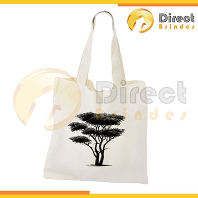 Direct Brindes Personalizados - Sacola Ecobag, em lona 100% algodão cru