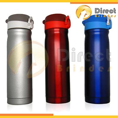 Squeeze em alumínio capacidade 500 ml, tampa plástica retrátil - Direct Brindes Personalizados