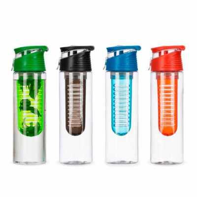 direct-brindes-personalizados - Squeeze de Plástico 700ml com Filtro e Tampa com Alça Personalizado