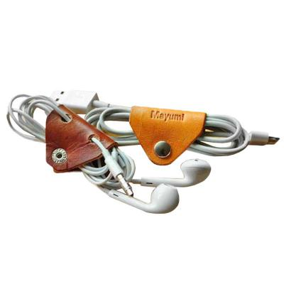 Porta fone de ouvido promocional confeccionado em couro. - UP Couro