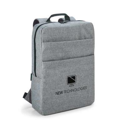 Mochila para notebook. 600D de alta densidade. Compartimento com divisória almofadada para notebook até 15.6''. Interior forrado e almofadado. Com 2 b... - UP Couro