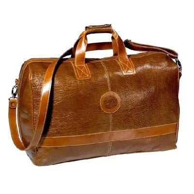 up-couro - Bolsa de viagem personalizada e pespontada