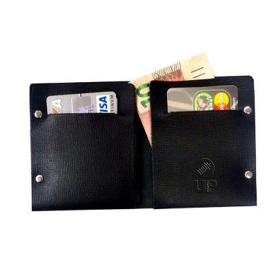 UP Couro - Porta notas confeccionado em couro ou sintético com porta cartões