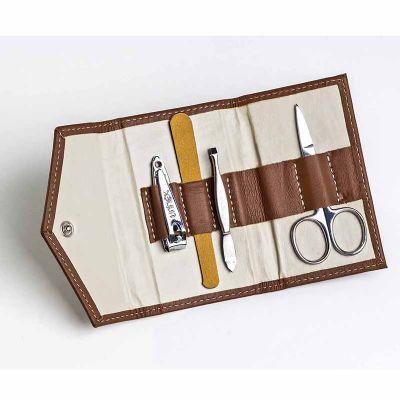 up-couro - Kit Manicure personalizado em couro ou sintético, medida: 11 x 7 cm