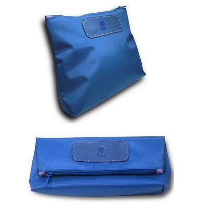 up-couro - Nécessaire dobrável, confeccionada em couro ou sintético, com nylon, medida 26,5 x 11 cm