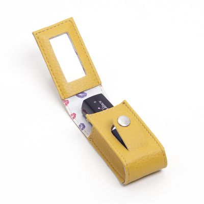 UP Couro - Porta batom unitário personalizado,