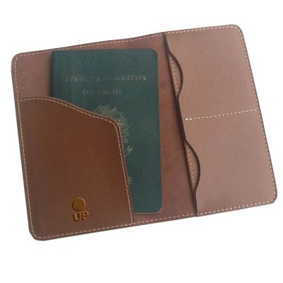 up-couro - Porta passaporte promocional