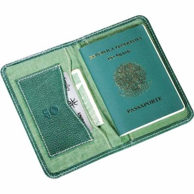 up-couro - Porta passaporte personalizado