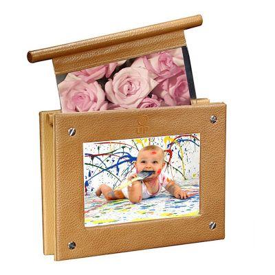 up-couro - Porta retrato personalizado, confeccionado em couro ou sintético. Medidas 15x 20 cm
