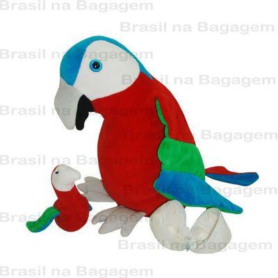 Brasil na Bagagem - Arara de pelúcia