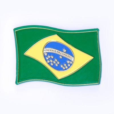 brasil-na-bagagem - Ímã de geladeira em formato de bandeira do Brasil