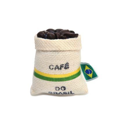 brasil-na-bagagem - Ímã de geladeira saquinho de café