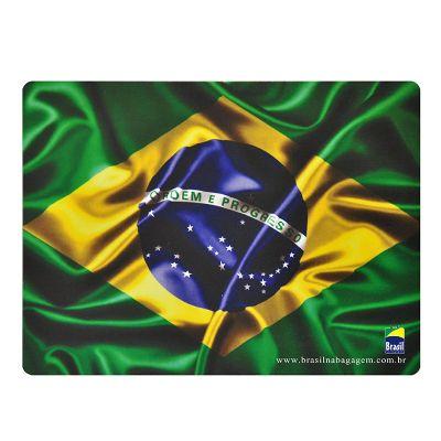 Brasil na Bagagem - Mouse Pad com a bandeira do Brasil.