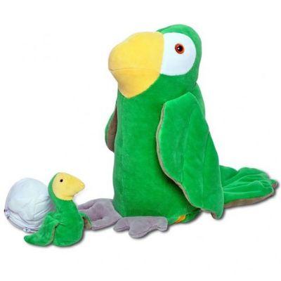 brasil-na-bagagem - Papagaio de pelúcia