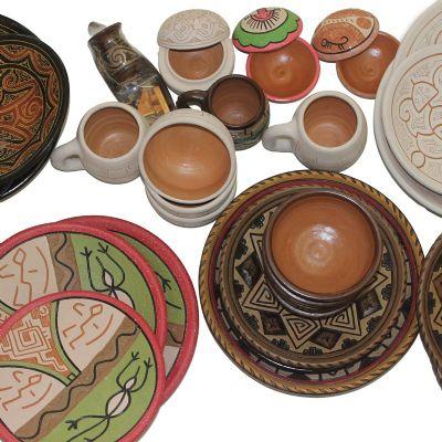 Brasil na Bagagem - Conjunto de cozinha personalizado em cerâmica