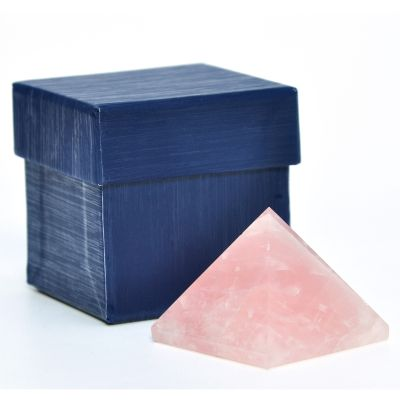Brasil na Bagagem - Pirâmide quartzo rosa.