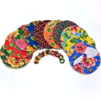 brasil-na-bagagem - Sousplat polipropileno revestido em chita.