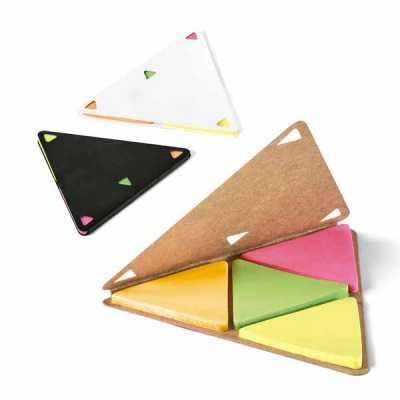 Bloco de anotações Personalizado Formato triangulo