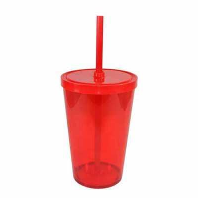 Canarinho Brindes - Copo plástico com Canudo Personalizado