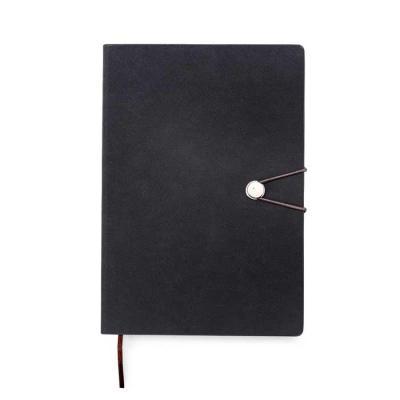 Caderneta Personalizada com fecho de pino e elástico de nylon para lacre. Capa em material sintét...