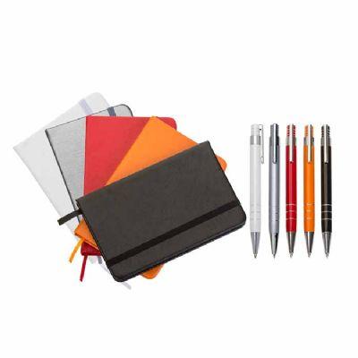 Canarinho Brindes - Kit Bloco de anotações com Caneta personalizada