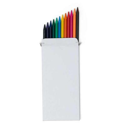 Canarinho Brindes - Conjunto lápis de cor com 12 unidades, acompanha case/embalagem de papelão. Lápis de grafite colorido e corpo produzido em material mina de pigmentaçã...