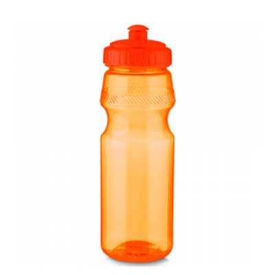 - Squeeze Plastico Personalizado, com tampa rosqueada, bico com trava. Capacidade: 750 ml.