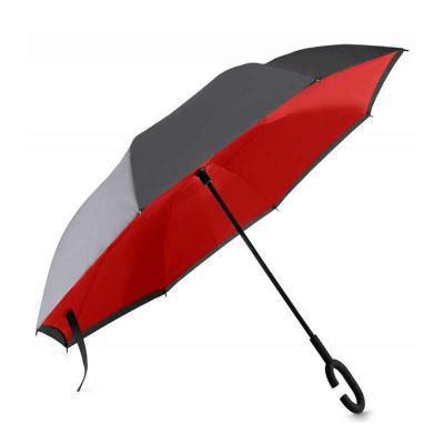 - Guarda-chuva Personalizado invertido com forro interno. Tecido de nylon impermeável, possui um mecanismo inovador permitindo que o usuário não se molh...